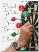 Darts Birthday Card
